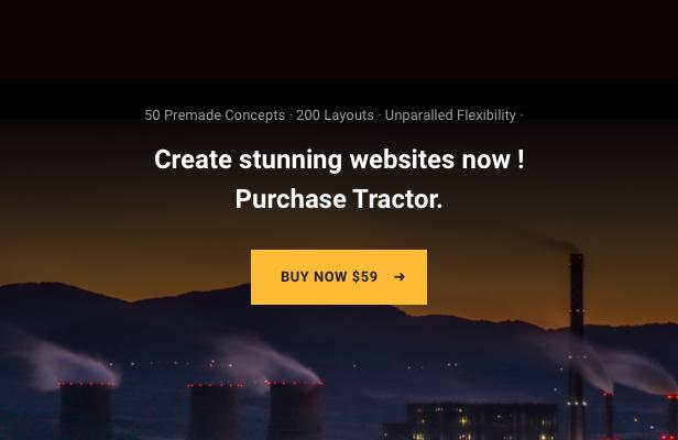 Tractor - Tema de WordPress para la fabricación industrial