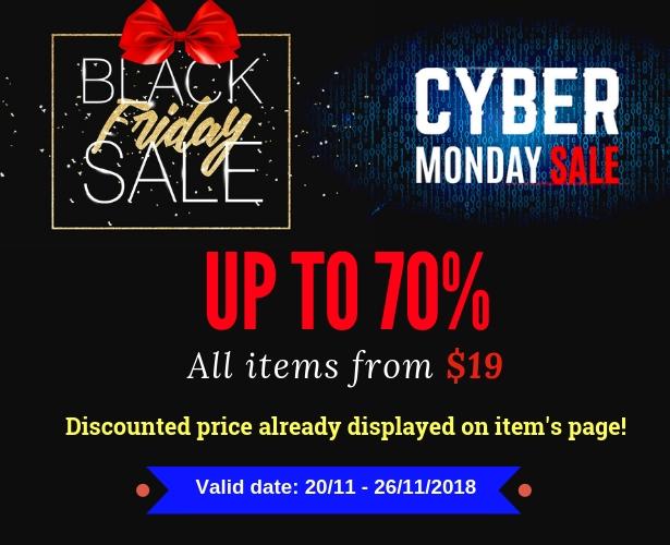 Wordpress viernes negro y cyber lunes venta hasta el 70%