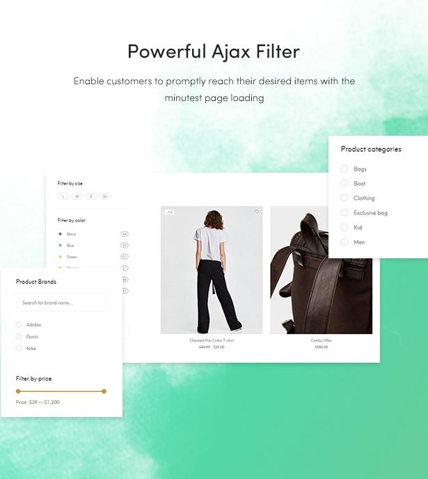 Temas de blog de moda gratis 2018 - potente filtro ajax