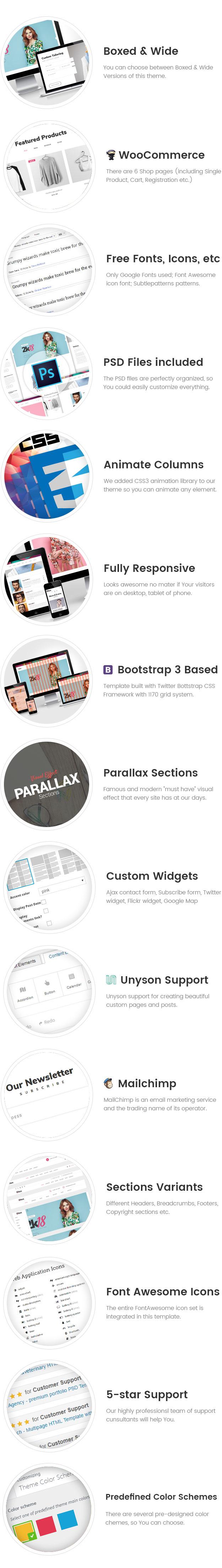 Qtex - Empresa de manufactura y confección del tema WordPress