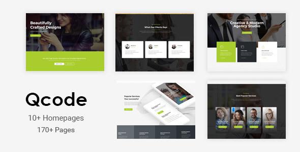 Qcode - Tema de negocios Joomla multiusos sensible con creador de páginas - Corporativo comercial