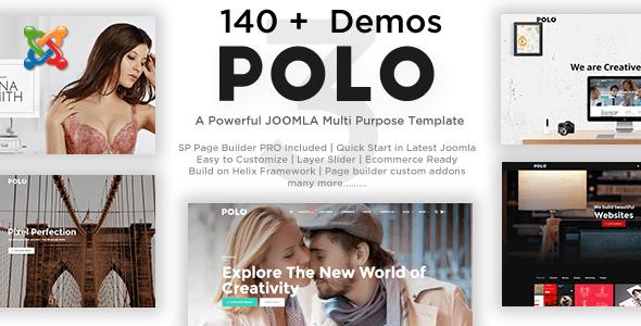 Polo - Tema Joomla de arrastrar y soltar multiusos sensible - Temas CMS de Joomla