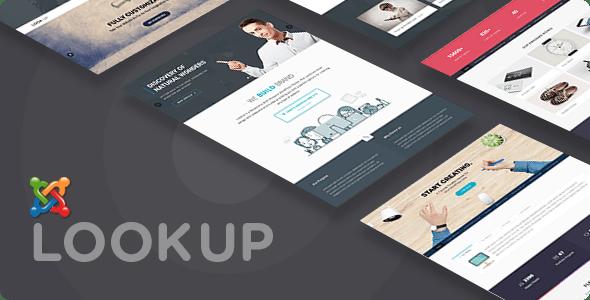 LookUp - Tema Joomla multiusos sensible con creador de páginas - Joomla creativo