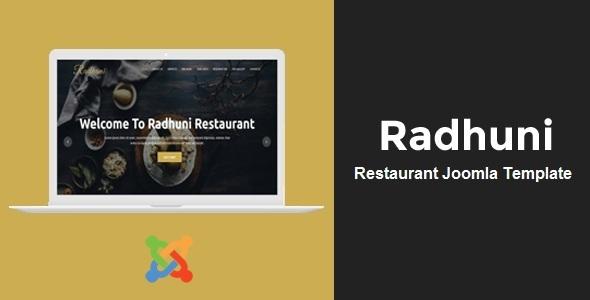 Radhuni - Tema Joomla de negocios polivalentes con Page Builder - Restaurantes y cafés Entretenimiento