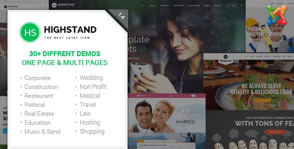 Highstand - Tema Joomla responsivo para múltiples propósitos con Page Builder - Temas Joomla CMS