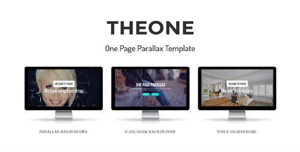 Theone - Tema Parallax Joomla de una página con Page Builder - Corporate Joomla