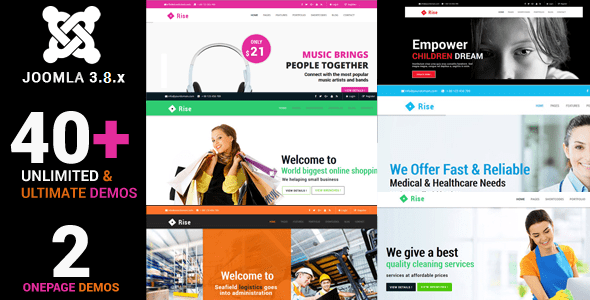 Rise - Responsive Multi-Purpose Creative Joomla Theme With Page builder - Corporate Joomla