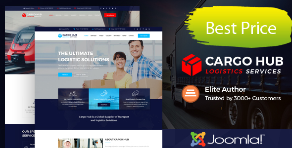 Centro de carga - Tema Joomla de transporte para empresas de transporte, logística y transporte - Empresas corporativas