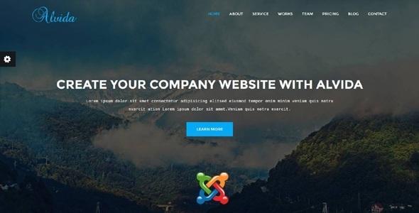 Alvida - Tema Joomla para negocios de una página - Tecnología Joomla
