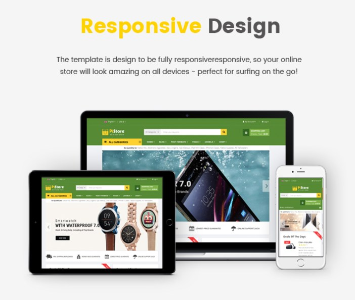Sj PiStore - Plantilla Responsive para Joomla eCommerce de diseño moderno