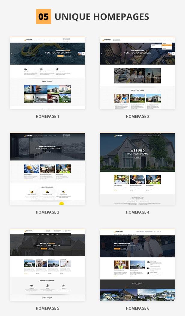 Continal - Plantilla HTML5 de construcción para negocios 2