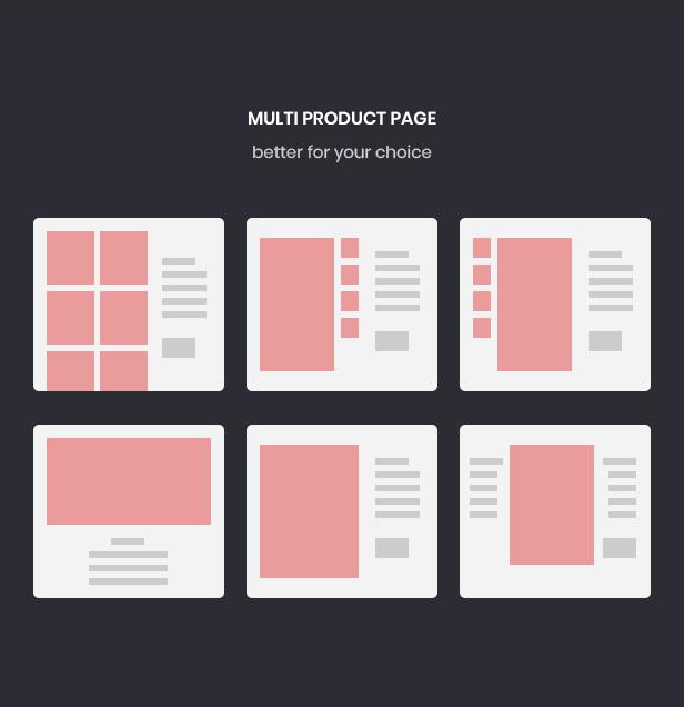 páginas de productos múltiples