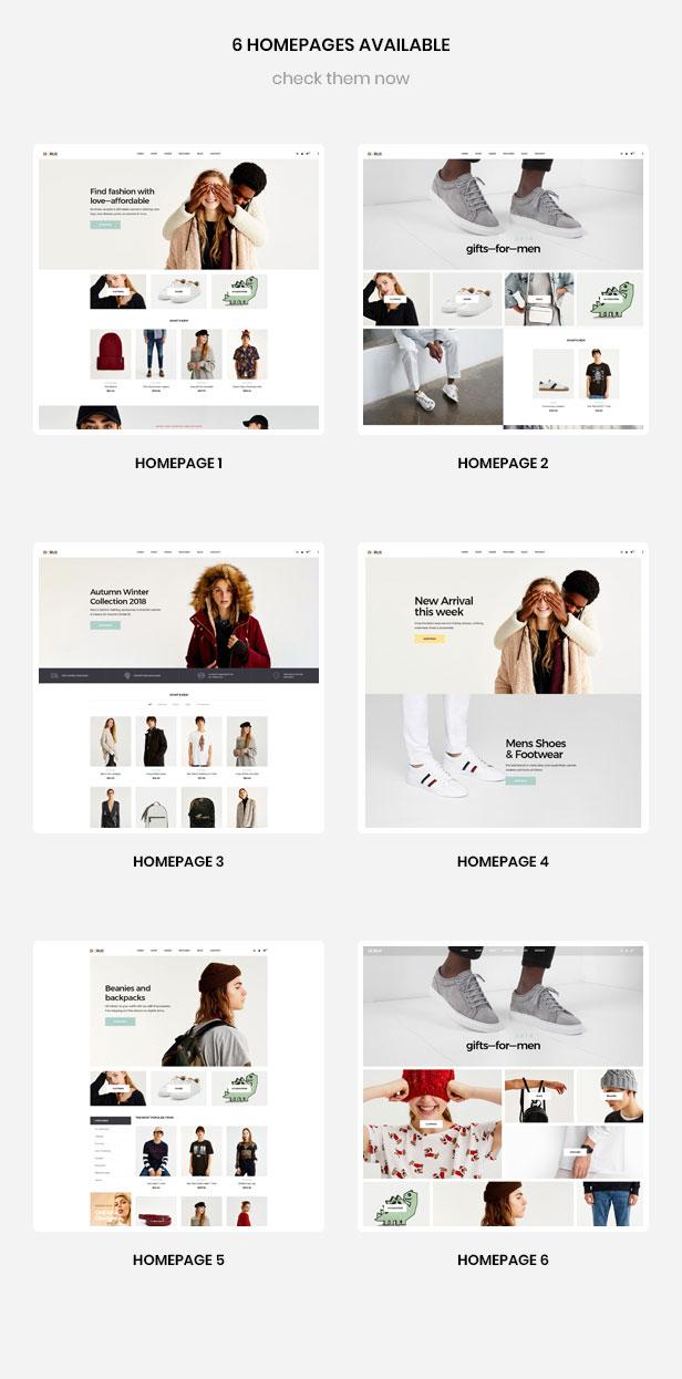 6+ páginas prefabricadas para tienda de moda y accesorios