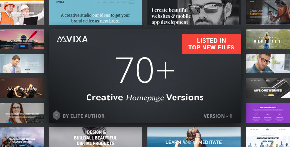 Vixa - Tema Joomla sensible de arrastrar y soltar multiusos - Joomla corporativo