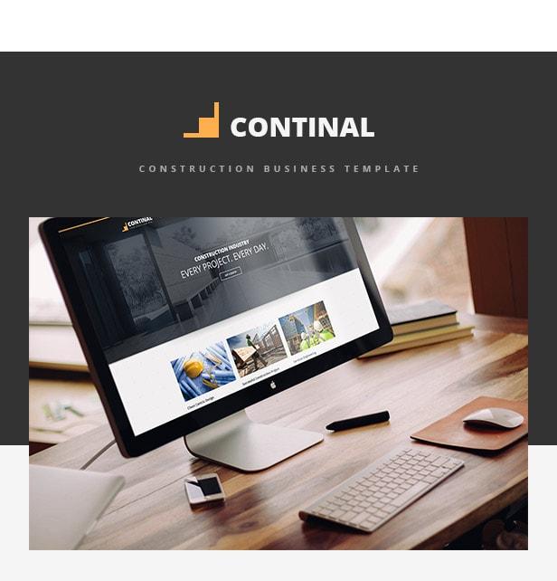 Continal - Plantilla HTML5 de construcción para negocios