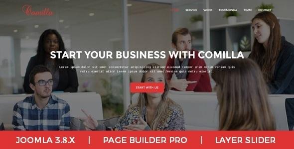 Comilla - Agencia digital Una página de negocios Tema Joomla - Corporativo Joomla