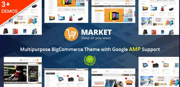 Market: tema multiuso de BigCommerce y listo para AMP de Google