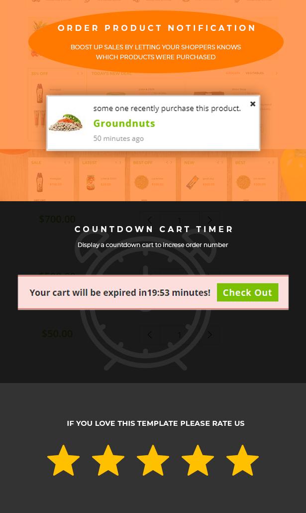 Tienda de comestibles tema Shopify