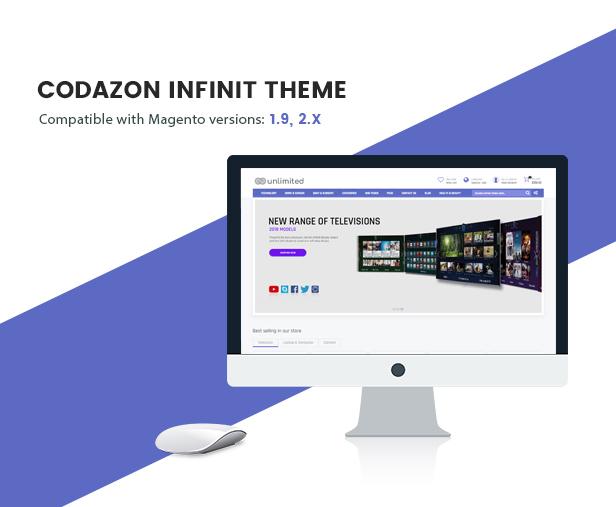 Infinit - Magento 2 y 1.9 con 15 páginas de inicio únicas - Bienvenido
