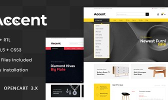 Accent - MultiPurpose OpenCart 3.x Responsive Theme