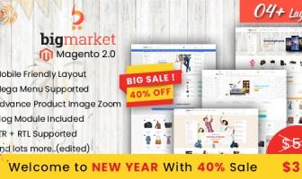 Bigmarket - Tema multivivo responsivo para Magento 2 (compatible con RTL)