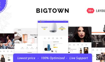Bigtown - Tema responsivo multiusos Opencart 3