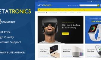 Meta Tronics - Tema MultiCommerce Plantilla Multiuso