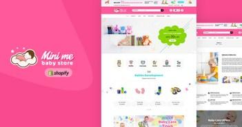 Mini Me - Productos para el cuidado del bebé, sección de Shopify Theme
