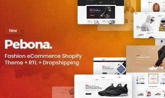 Pebona - Fashion Shop tema de comercio electrónico