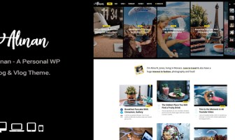 tema wordpress blog personal