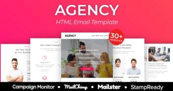 Agencia - Plantilla de correo electrónico receptivo multipropósito Más de 30 módulos - StampReady + Mailster & Mailchimp