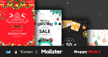 Happy Mail 2 - Conjunto de plantillas de correo electrónico de Navidad + Acceso en línea