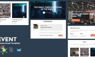 KEVENT: la mejor plantilla de correo electrónico para eventos receptivos + Generador en línea de Stampready
