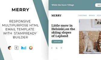Merry - Correo electrónico receptivo + StampReady Builder & Mailchimp