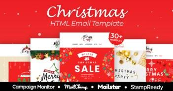 Navidad - Plantilla de correo electrónico receptivo multipropósito con StampReady Builder