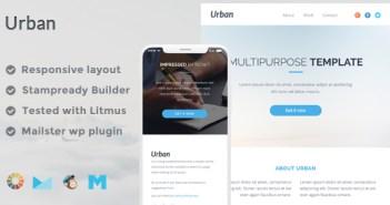 Plantilla de correo electrónico responsivo urbano + Stampready Builder + Mailchimp + Mailster