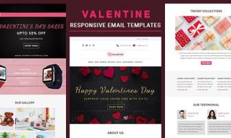 Valentine - Plantilla de correo electrónico receptivo con fabricantes de Stampready y Mailchimp en línea