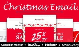 Venta de Navidad - Plantilla de correo electrónico receptivo multipropósito - StampReady + Mailster & Mailchimp