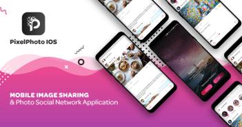 PixelPhoto IOS - Intercambio de imágenes móviles y red social de fotos
