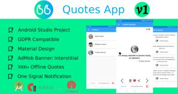 Aplicación Quotes.me Quotes con Backend Online