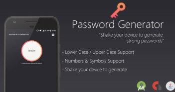 Generador de contraseñas - Shake & Generate (Proyecto completo de Android Studio)