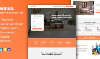 Cleanaa - Plantilla de página de aterrizaje de servicios de limpieza