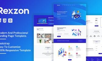 Rexzon - Plantilla de página de aterrizaje HTML5 de Responsive Software