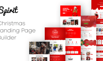 Spirit - Christmas Landing Pages con Page Builder