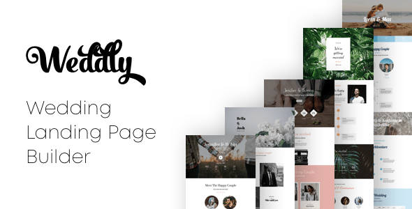 <pre>Weddly - Wedding Landing Pages con Page Builder