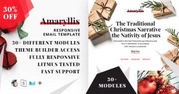Amaryllis - Plantilla de correo electrónico de respuesta para Navidad + StampReady Builder