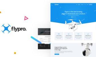Flypro - Plantilla de página de destino de producto