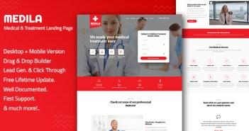 Medila - Plantilla de página de inicio de tratamiento médico y atención médica