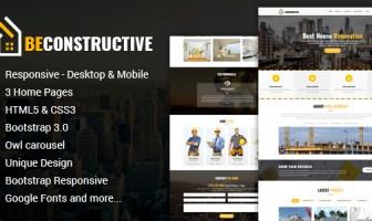 Sea constructivo - Plantilla HTML de construcción de una página