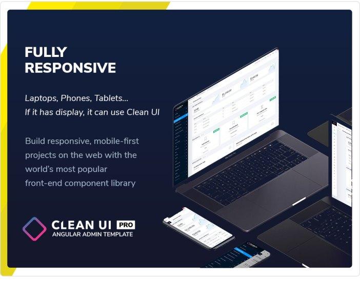 Clean UI Angular Pro - Angular NgRx Admin Template + Html Version - 12